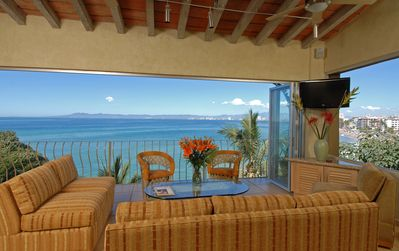 Photo for 2 - 3 BR Private, Staffed Villa with pool and amazing views on Los Muertos Beach