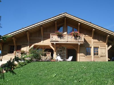 Photo for SUPERB CHALET 400m from the cable car (120km of slopes) and the village