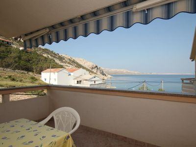 Photo for One bedroom apartment near beach Metajna, Pag (A-6503-b)
