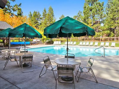 Photo for The Ridge at Sunriver - Condo #13 - Access provided to S.H.A.R.C. Aquatics Park. Only condos next door to S.H.A.R.C. Two minute walk to S.H.A.R.C. Facility. Private Ridge HOA Pool and Year Round Hot Tub Too! Includes 4 bikes.