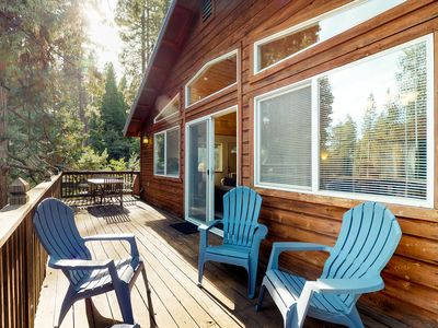 Photo for NEW LISTING! Large cabin w/pool table & foosball, shared pool