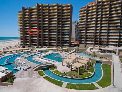 Photo for True Oceanfront Phase II Largest Balcony Closest to the Beach  at Las Palomas