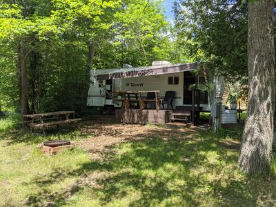 Modern, clean trailer, waterview at small campground