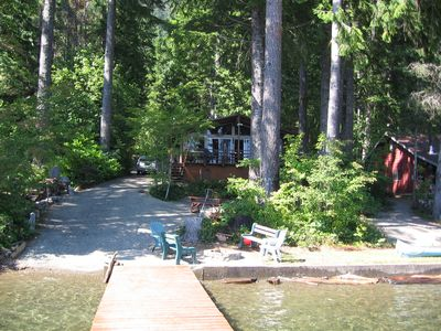 Cabin and beech from your own private dock!
