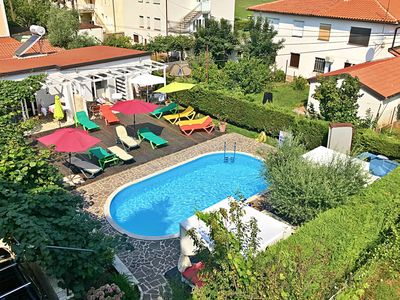 Photo for Studio in Umag use swimming pool, jacuzzi, near the sea, WiFi, barbecue, parking