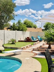 """Photo for *""""Ultimate Man Cave""""~Pool table~Hot Tub~Diving Pool~Putting Green~Trampoline*"""