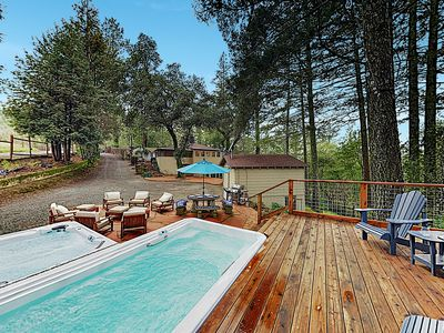 Photo for Luxe Vineyard-View Hideaway w/ Swim Spa & Hot Tub!