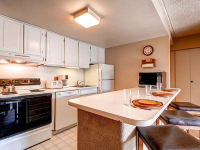 Photo for 7th Night Free! Ideal Breck Location, Mountain Views, Wi-Fi, Garage Parking