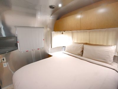 Photo for Modern Airstream for up to 2! Fire pit, Grill, Wi-Fi, Bikes, and more!
