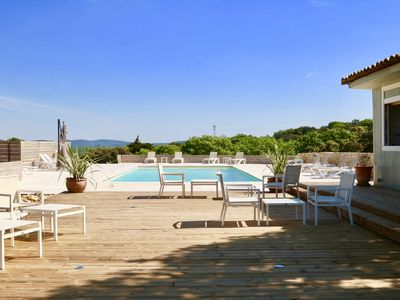Photo for Maison du Domaine Luxury 4 Bedroom Stone house with incredible pool and views