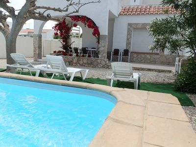 Photo for CASA COLL VERD, Ideal house for your holidays near the sea, free wifi, air conditioning, private pool, pets allowed, dog's beach.