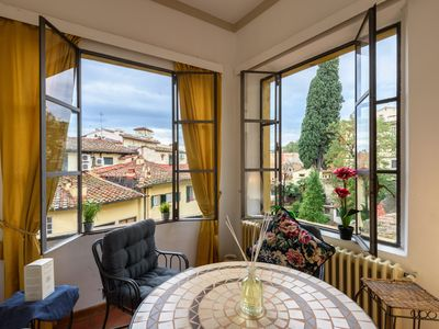 Photo for EXCLUSIVE SUITE with Amazing Terrace in the heart of Florence Ponte Vecchio