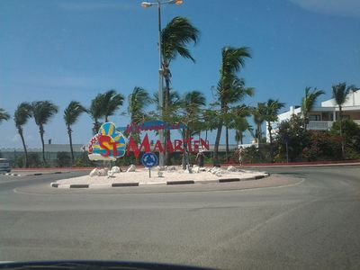 Welcome to St. Maarten!! Maho!! This is 1 of the many roundabouts on the Island.