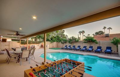 Photo for Central Scottsdale Estate Sleeps 24 ❤️ Heated Pool-Spa-Boccie-Near Events, Best Shop,Dine& Golf Area