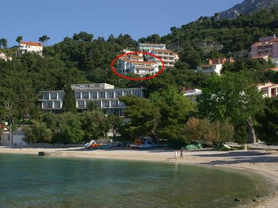 Photo for One bedroom apartment with terrace and sea view Baška Voda (Makarska)
