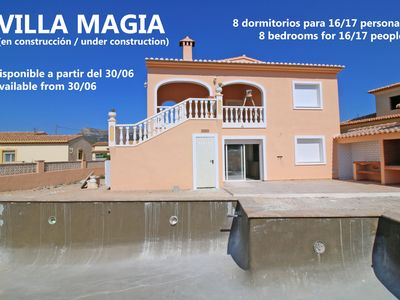 Photo for 8 bedroom Villa, sleeps 17 in Calpe with Pool, Air Con and WiFi