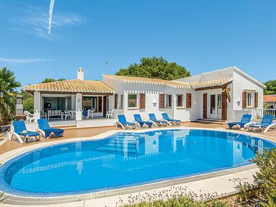Photo for Spacious Villa w/ large pool & BBQ, a short drive from Binibecas amenities & beach