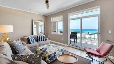 Photo for Seahorse unit D. Gulf Front 3 bedroom/2 bath townhouse.Free WiFi. 2 balconies