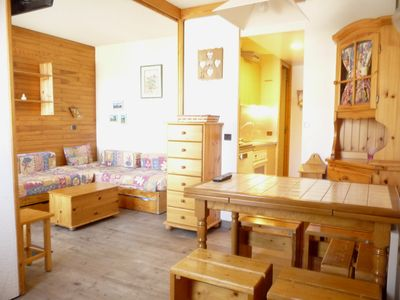 Photo for Divisible studio for 4 people on the slopes, Belle Plagne