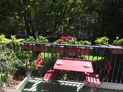 Photo for Romantic and design, near the garden of LUXEMBOURG PANTHEON, quiet, balcony with flowers