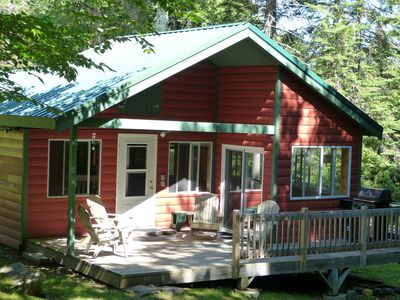 Create wonderful memories in our cozy cabin with an inviting private back deck.