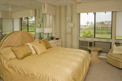 Master Bedroom on golf course with ocean view