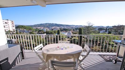 Photo for Apartment T2 - 4 people - Pool and tennis residence - WiFi - Sea overview - Sainte Maxime