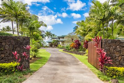 Private, gated, beautifully-landscaped beachfront property