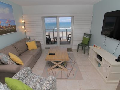 Photo for Charm and Comfort! Direct Oceanfront Condo on No Drive Beach
