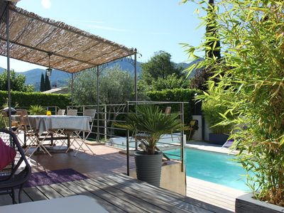 Photo for Detached house with swimming pool in Nyons in drôme provençale from 1150 to 1450 € All tax included