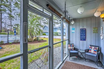 This vacation rental boasts a private enclosed patio to kick back on.