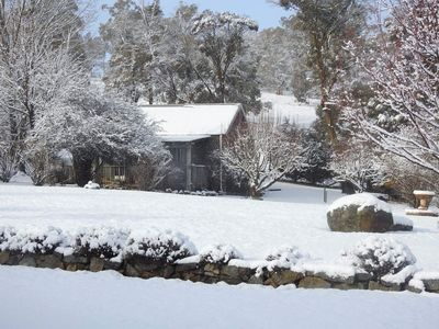 The Cottage after a snowfall