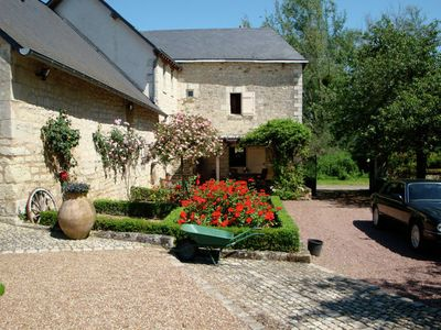 Photo for Former customs house with large garden and private pool. 4 km from Chinon