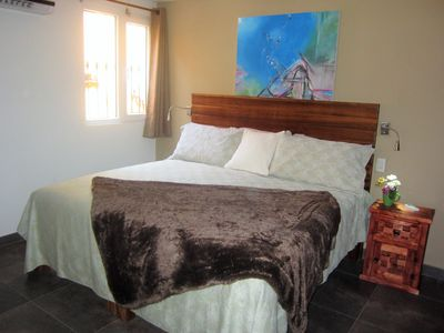 Photo for Luxury King Apartment One Block from the Beach