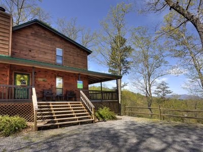Photo for Smoky Mountain 2 Bedroom Chalet with Jacuzzi and Hot Tub, Close to Dollywood
