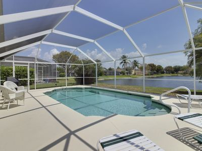 Photo for Waterside home w/ private covered pool & patio - golf courses nearby!