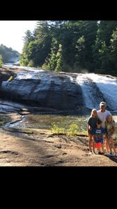 BOTTOM OF FALLS,BY SWIMMING HOLE