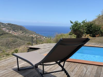 Photo for Chalet Bungalow - Pool & Jacuzzi Sea View in Anses d'Arlet