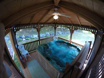 Great Hot Tub in a Gazebo. It's waiting for you and your guests year round