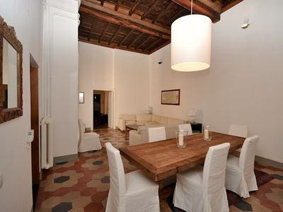 Photo for Unique and stylish 4 bedroom, 250 sq meters and 4 meters high ceilings apartment, located literally