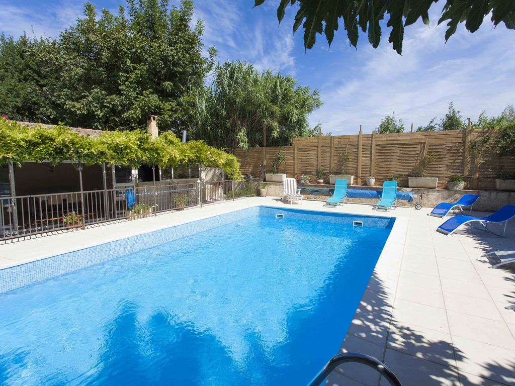 Detached house not overlooked with private pool and fully securisee.