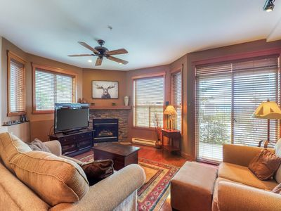 Photo for NEW LISTING! HappyValley ground floor ski-in/ski-out condo w/ private hot tub