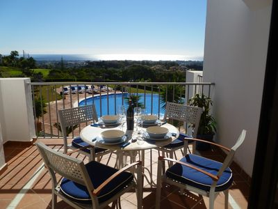 Photo for Apartment Golf Club Los Arqueros near Puerto Banus - 2 bedrooms- Internet -UK TV