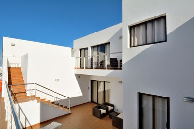 a lovely villa, close to the sea, for more photos please see www.bluebeach.info