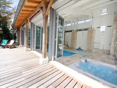 Photo for NEW FOR 2020! - sleeps  4 to 10, heated outdoor + indoor pools, jacuzzi, tennis