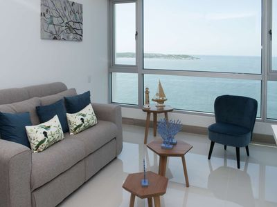 Photo for Charming 1 BR Sunset Apartment on the Beach