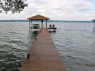 Guests are welcome to enjoy the dock - please note boat lift not available.