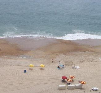 A view of the beach from the big oceanside balcony