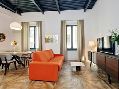 Photo for Del Basilico 2C apartment in Via Veneto with WiFi, integrated air conditioning & lift.