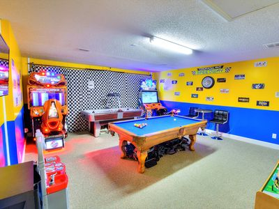 Photo for Funtastic Getaway - AMAZING Game Room w/A/C, Southern Pool/Spa, Gated Community!